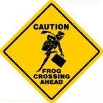 Frogger Crossing Sign
