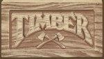 Timber Kickplate Plaque