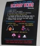 Donkey Kong Instruction card